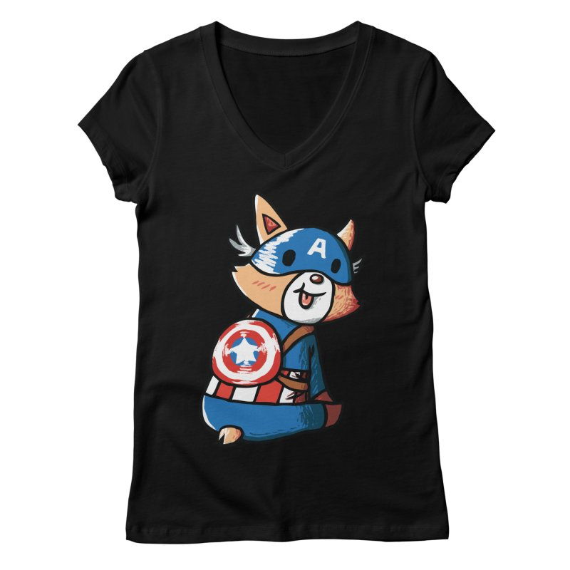 Captain Corgi Women's V-Neck by La La Lune