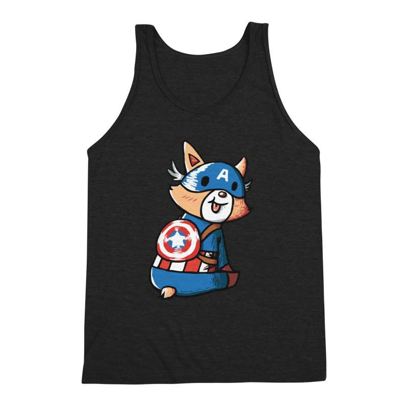 Captain Corgi Men's Triblend Tank by La La Lune