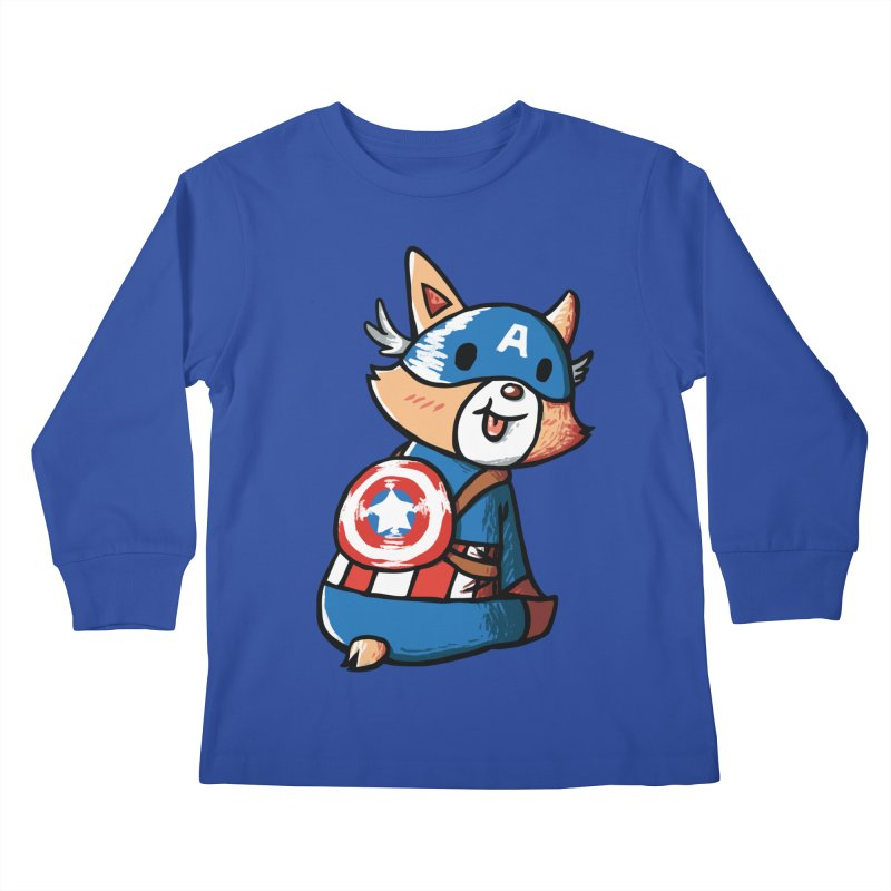 Captain Corgi Kids Longsleeve T-Shirt by La La Lune