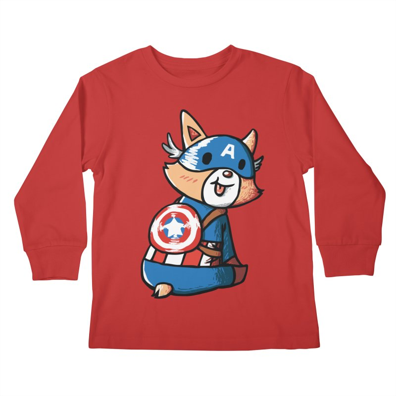 Captain Corgi Kids Longsleeve T-Shirt by La La Lune