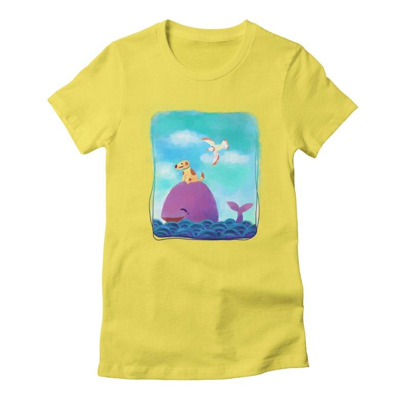 The Adventure Women's Fitted T-Shirt by La La Lune