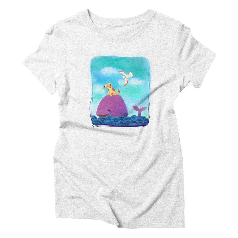 The Adventure Women's Triblend T-shirt by La La Lune