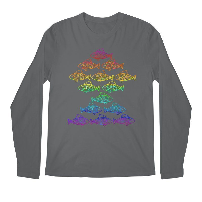 Fish of Colors Men's Longsleeve T-Shirt by La La Lune