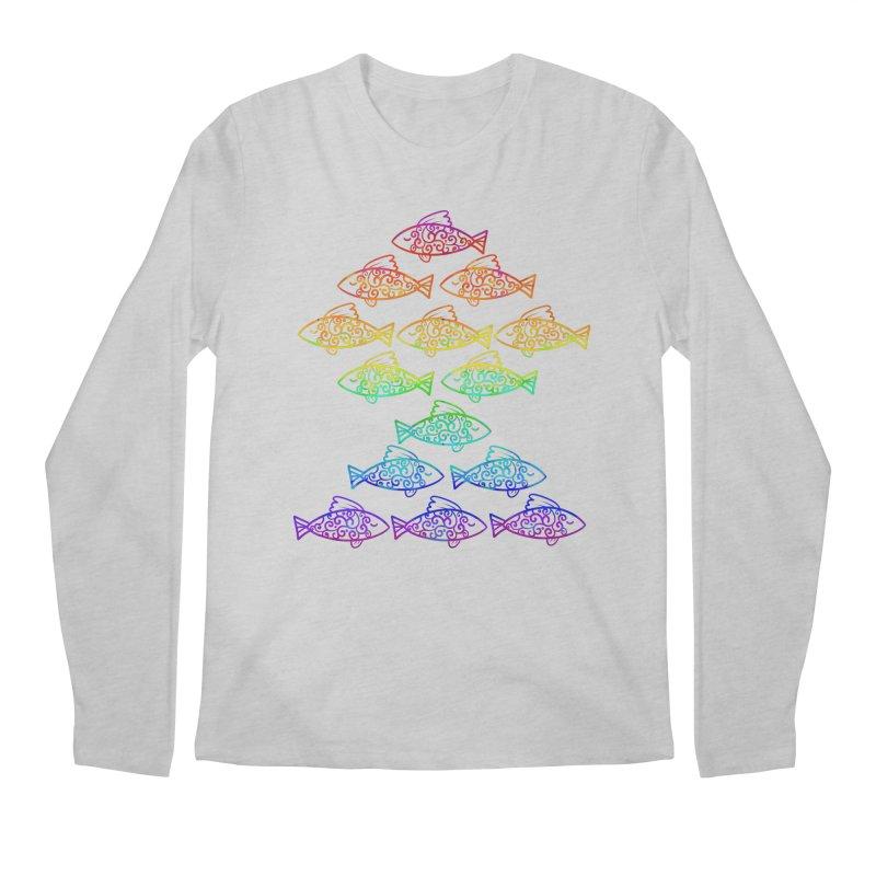 Fish of Colors Men's Longsleeve T-Shirt by La La Lune