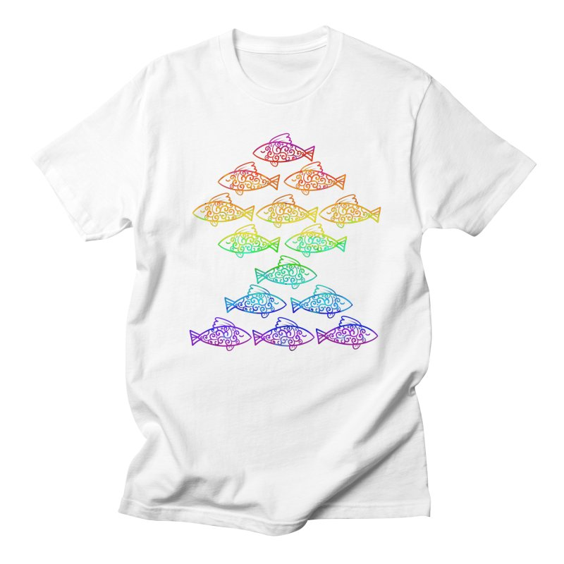 Fish of Colors Men's T-shirt by La La Lune