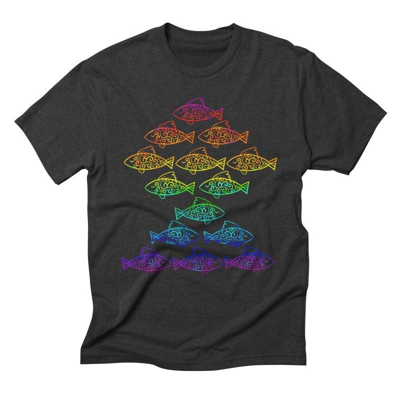 Fish of Colors Men's Triblend T-shirt by La La Lune