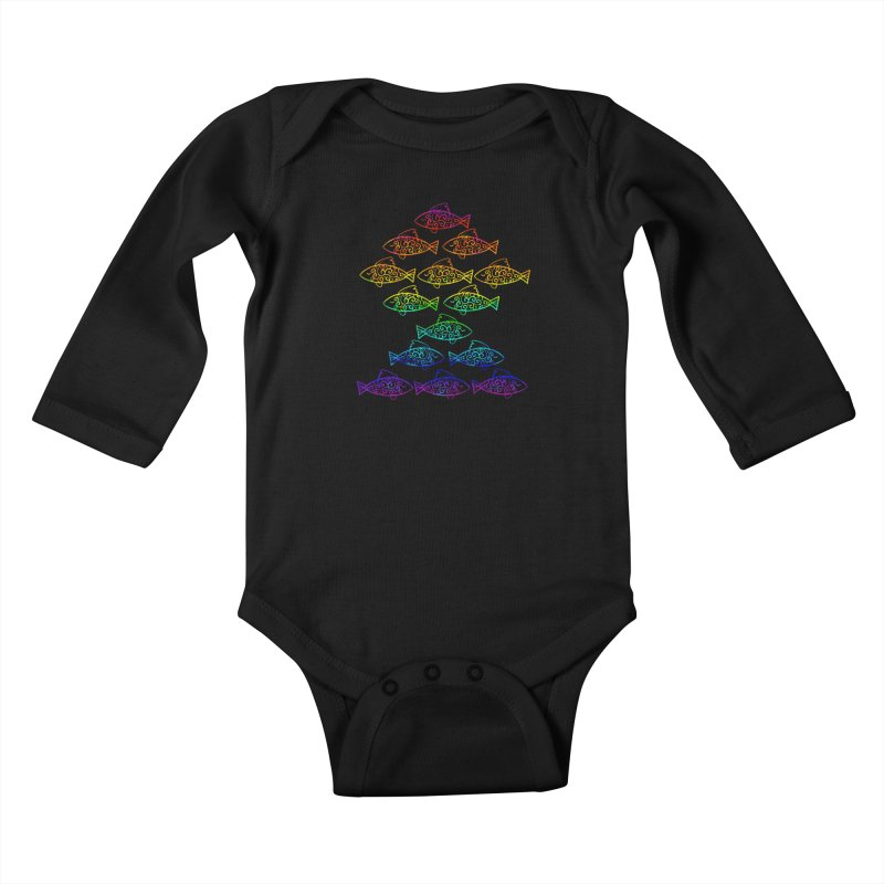 Fish of Colors Kids Baby Longsleeve Bodysuit by La La Lune