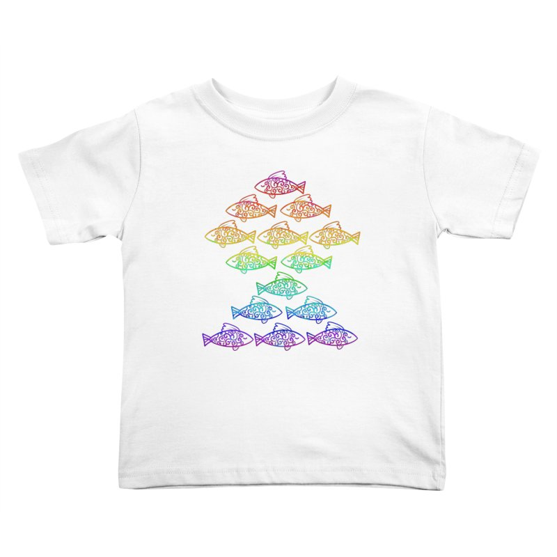 Fish of Colors Kids Toddler T-Shirt by La La Lune
