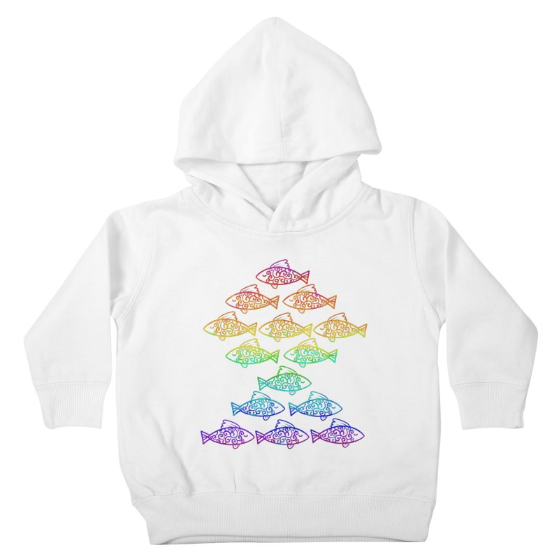 Fish of Colors Kids Toddler Pullover Hoody by La La Lune