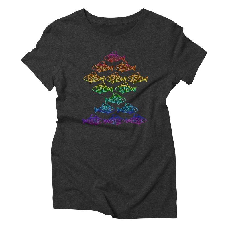 Fish of Colors Women's Triblend T-shirt by La La Lune