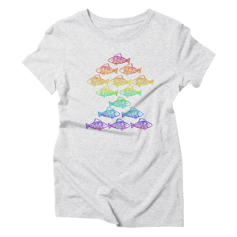 Fish of Colors Women's Triblend T-shirt by La La Lune