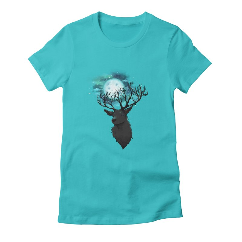 Lunar Women's Fitted T-Shirt by La La Lune
