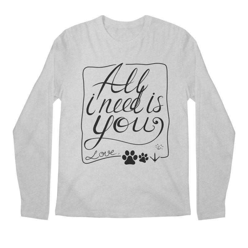 From pets with love Men's Longsleeve T-Shirt by La La Lune