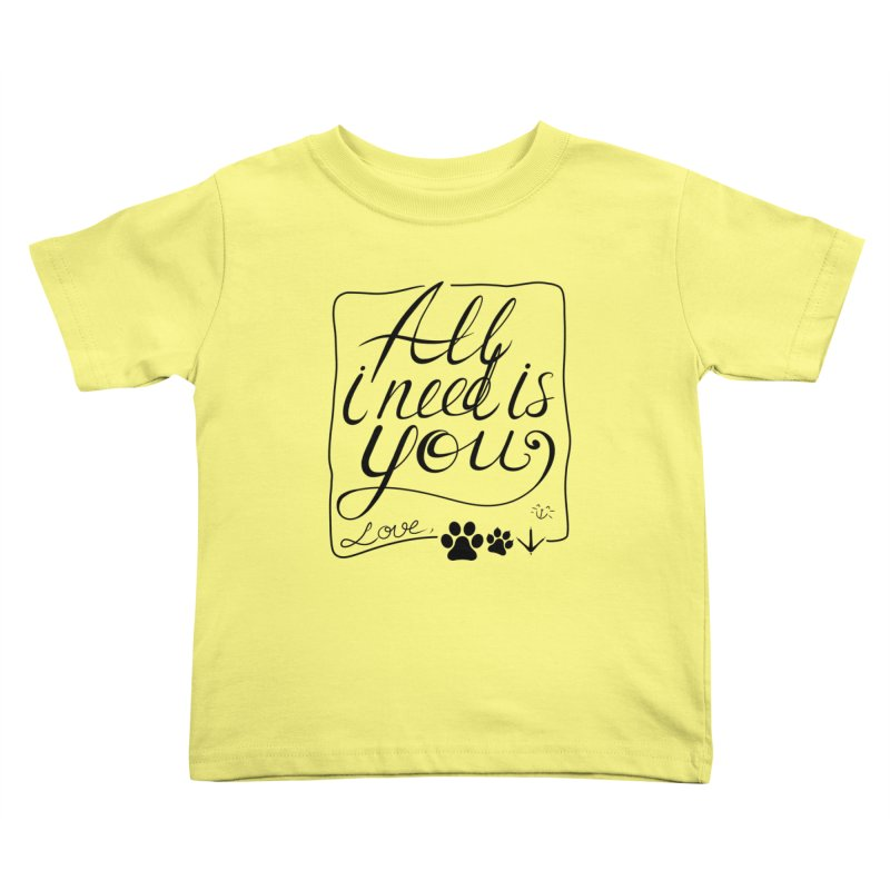 From pets with love Kids Toddler T-Shirt by La La Lune