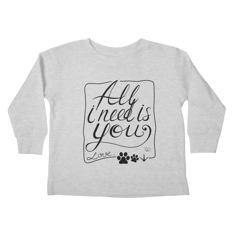 From pets with love Kids Toddler Longsleeve T-Shirt by La La Lune