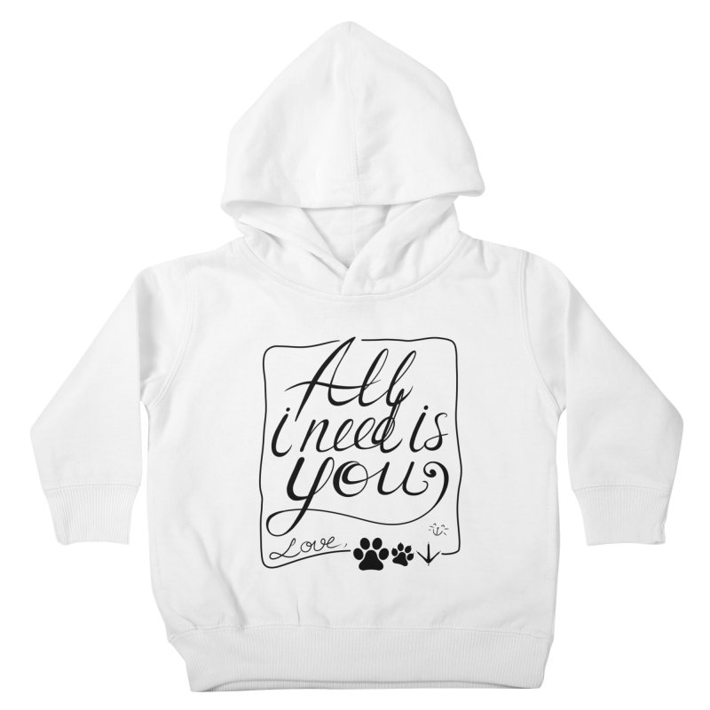 From pets with love Kids Toddler Pullover Hoody by La La Lune