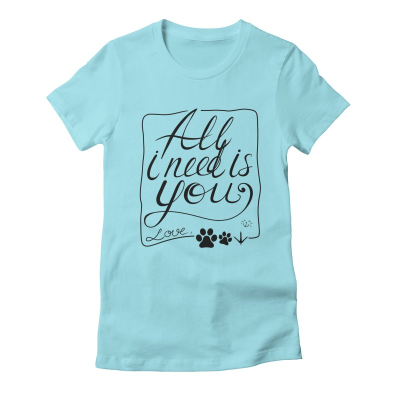 From pets with love Women's Fitted T-Shirt by La La Lune
