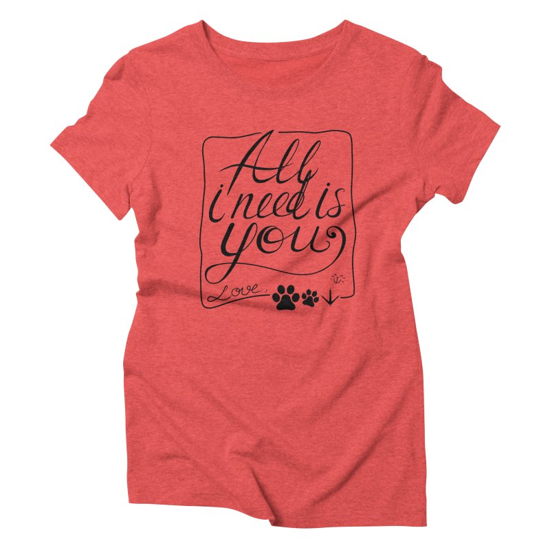 From pets with love Women's Triblend T-shirt by La La Lune