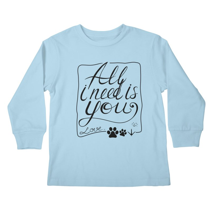 From pets with love Kids Longsleeve T-Shirt by La La Lune