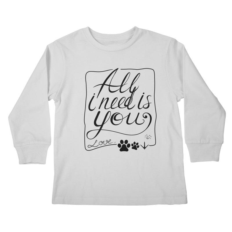 From pets with love Kids Longsleeve T-Shirt by La La Lune