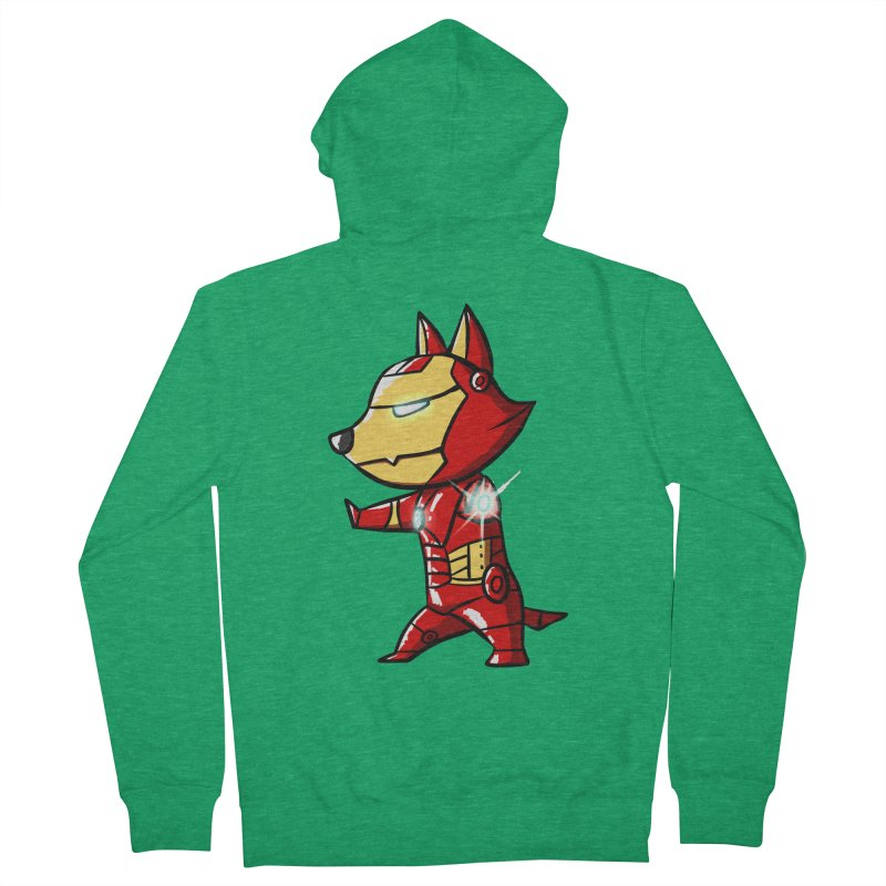 Iron Corgi Men's Zip-Up Hoody by La La Lune