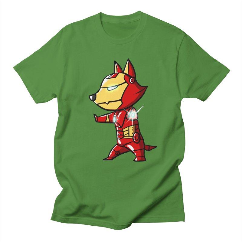 Iron Corgi Men's T-Shirt by La La Lune