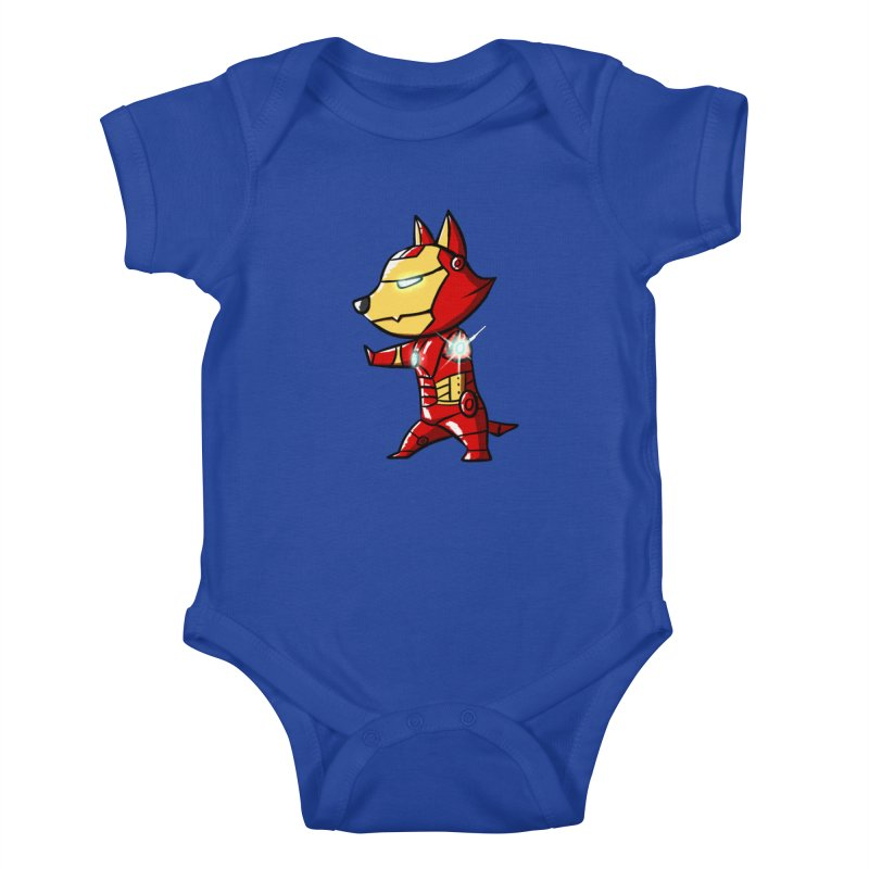 Iron Corgi Kids Baby Bodysuit by La La Lune
