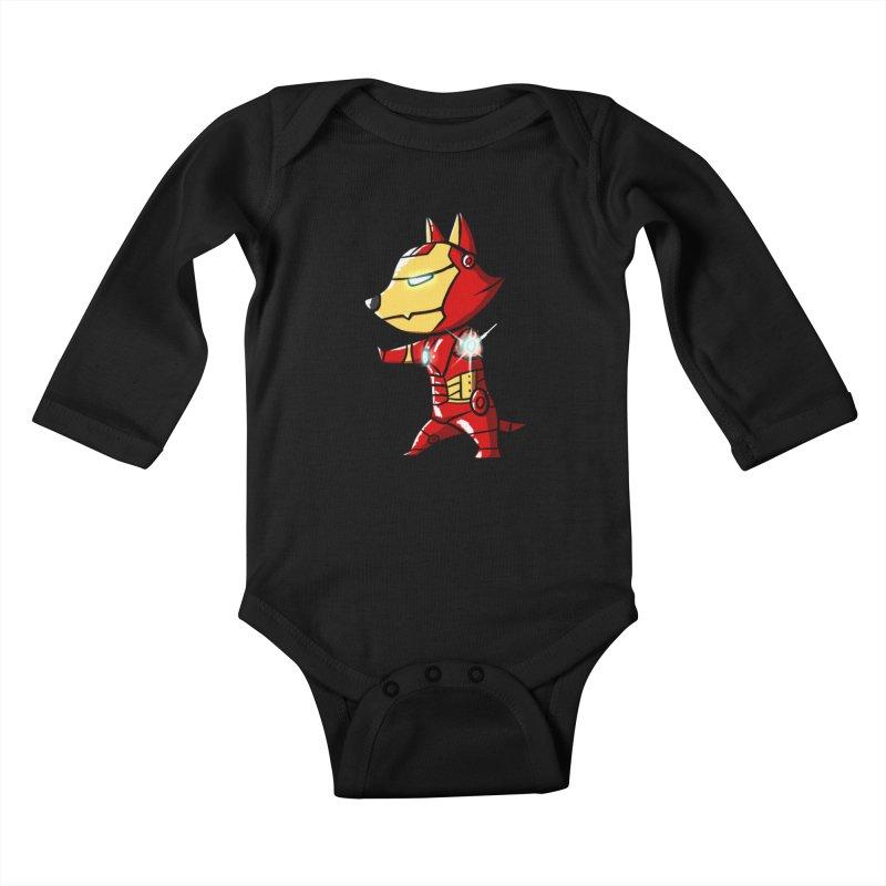 Iron Corgi Kids Baby Longsleeve Bodysuit by La La Lune