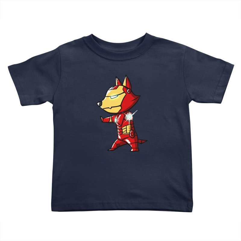 Iron Corgi Kids Toddler T-Shirt by La La Lune