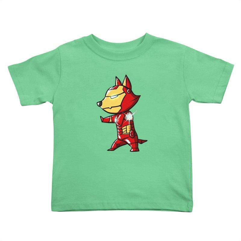Iron Corgi Kids Toddler T-Shirt by La La Lune