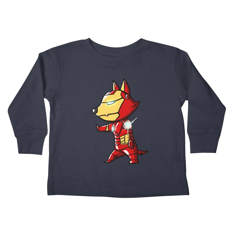 Iron Corgi Kids Toddler Longsleeve T-Shirt by La La Lune