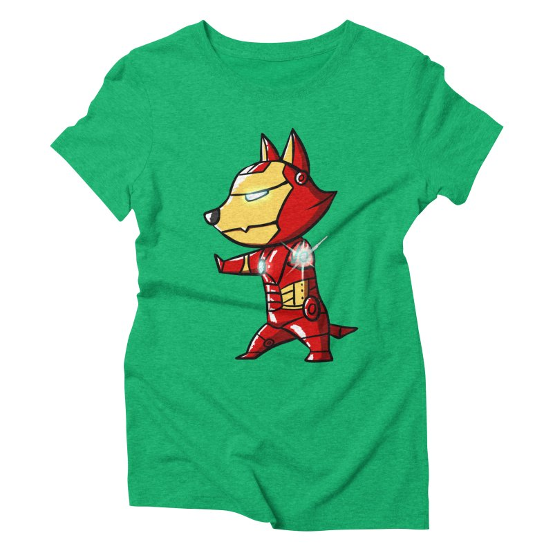 Iron Corgi Women's Triblend T-shirt by La La Lune