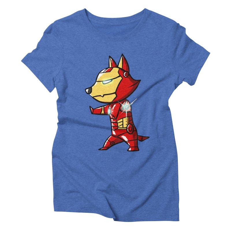 Iron Corgi Women's Triblend T-shirt by La La Lune