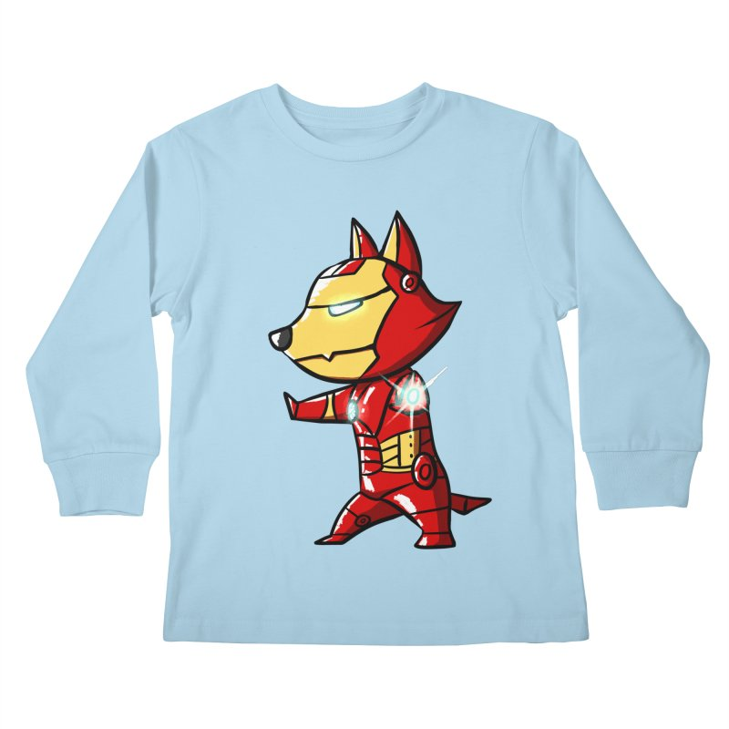 Iron Corgi Kids Longsleeve T-Shirt by La La Lune