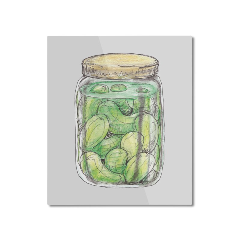 Pickle Jar Home Mounted Aluminum Print by The Pickle Jar's Artist Shop
