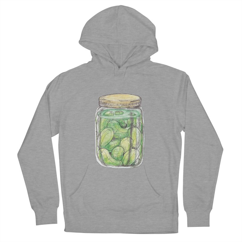 Pickle Jar Women's French Terry Pullover Hoody by The Pickle Jar's Artist Shop