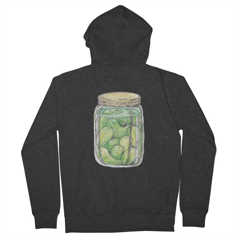Pickle Jar Women's French Terry Zip-Up Hoody by The Pickle Jar's Artist Shop