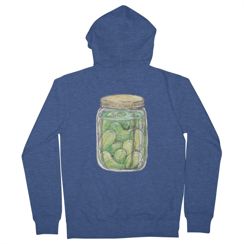 Pickle Jar Men's French Terry Zip-Up Hoody by The Pickle Jar's Artist Shop