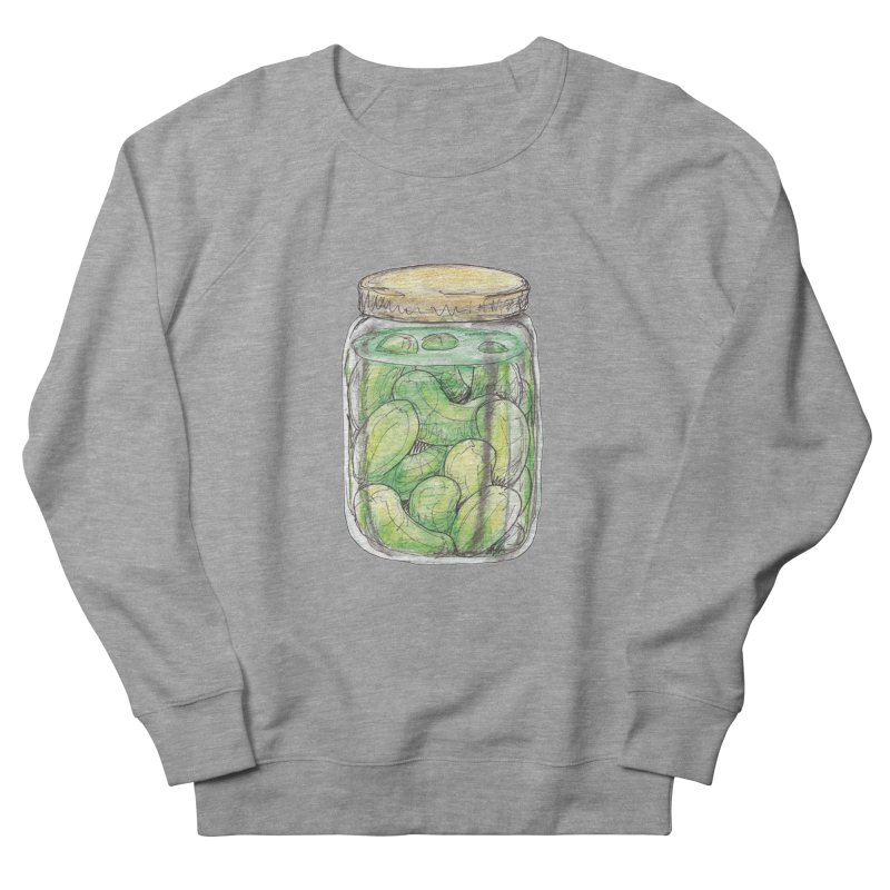 Pickle Jar Women's French Terry Sweatshirt by The Pickle Jar's Artist Shop