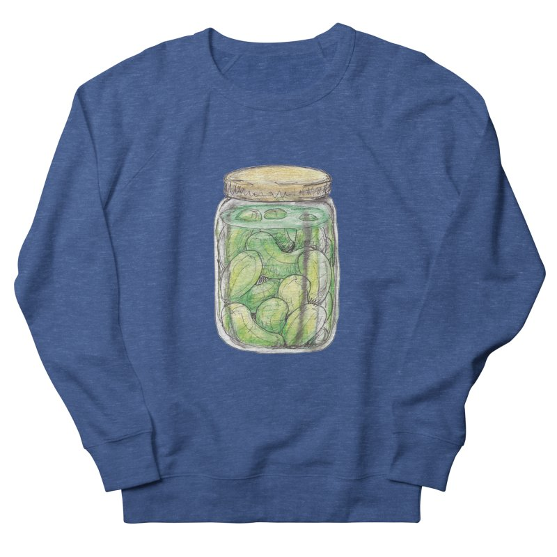 Pickle Jar Men's French Terry Sweatshirt by The Pickle Jar's Artist Shop