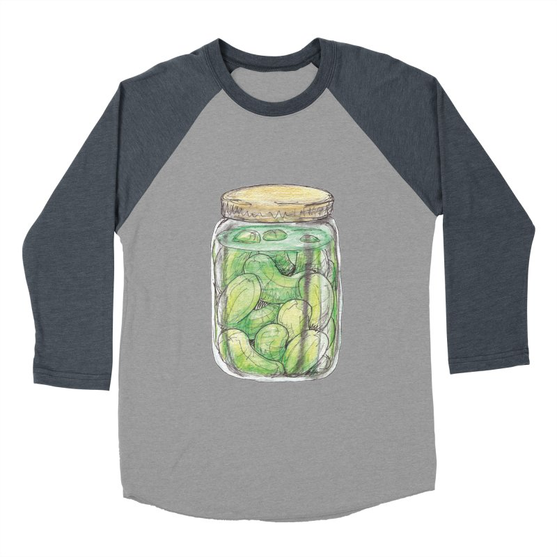 Pickle Jar Men's Baseball Triblend Longsleeve T-Shirt by The Pickle Jar's Artist Shop
