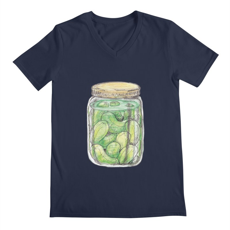 Pickle Jar Men's V-Neck by The Pickle Jar's Artist Shop