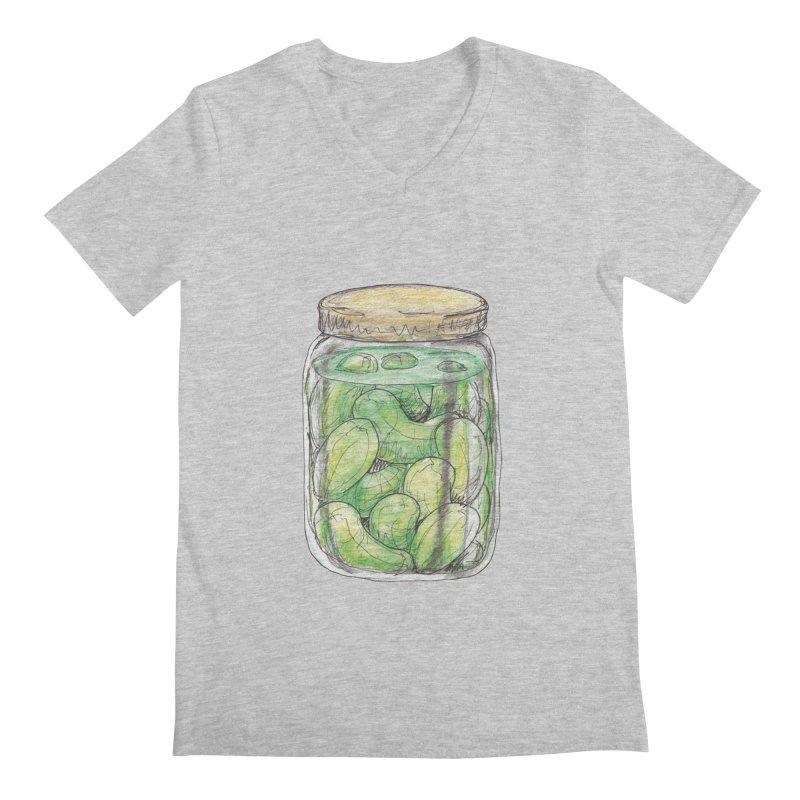 Pickle Jar Men's Regular V-Neck by The Pickle Jar's Artist Shop