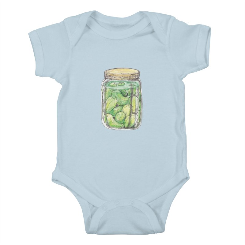 Pickle Jar Kids Baby Bodysuit by The Pickle Jar's Artist Shop