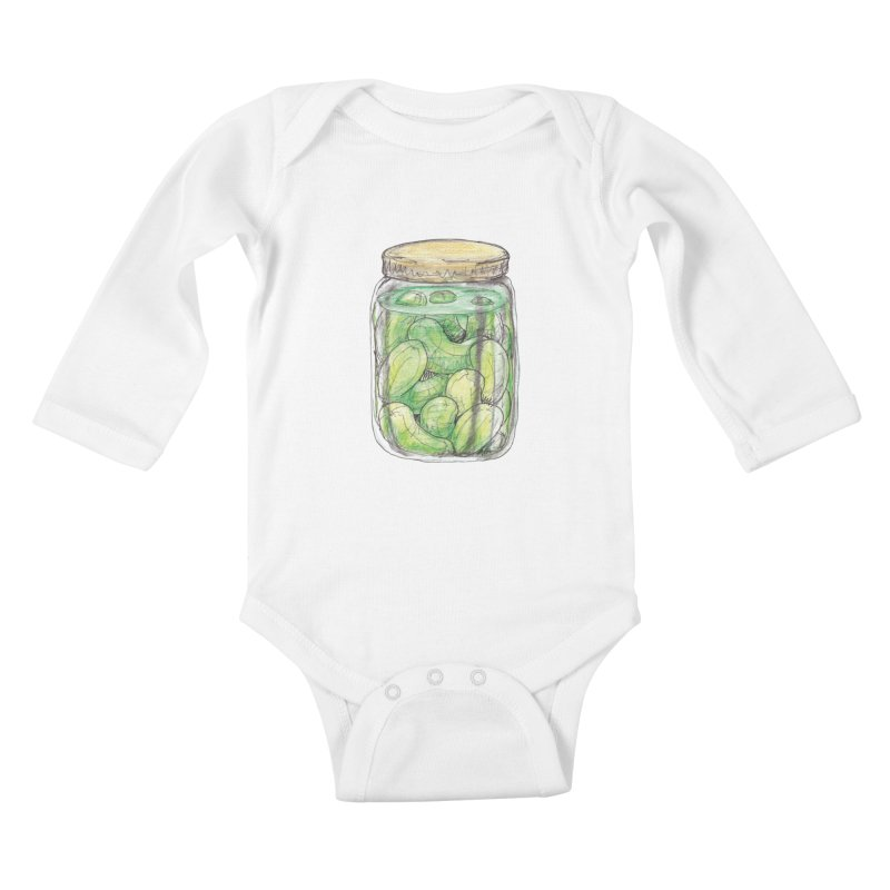 Pickle Jar Kids Baby Longsleeve Bodysuit by The Pickle Jar's Artist Shop