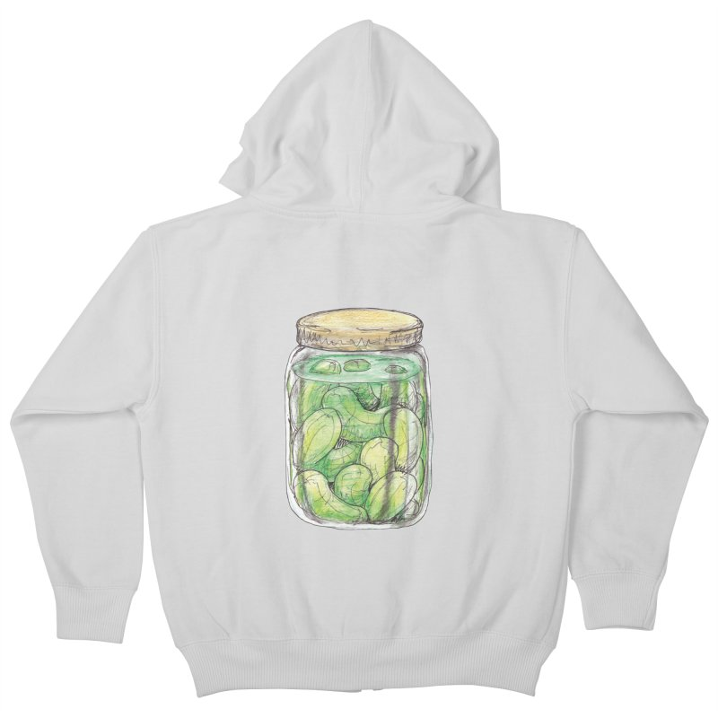 Pickle Jar Kids Zip-Up Hoody by The Pickle Jar's Artist Shop