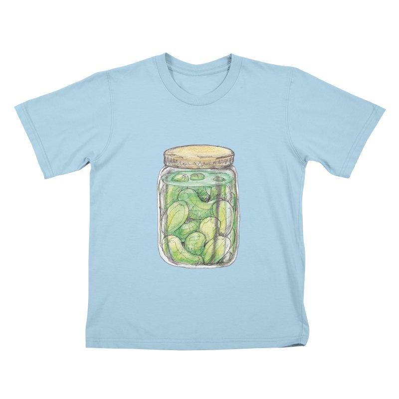 Pickle Jar Kids T-Shirt by The Pickle Jar's Artist Shop