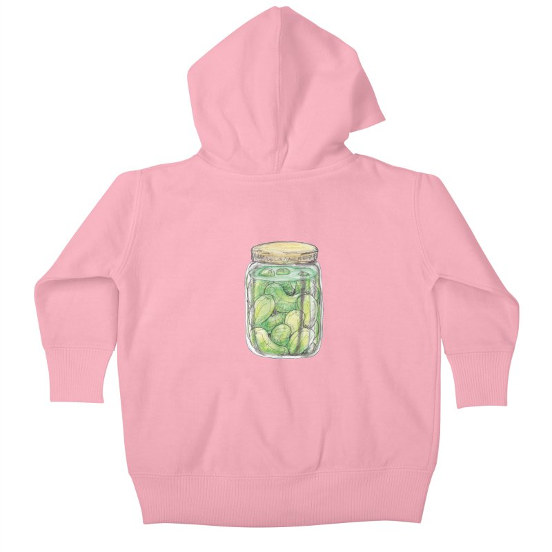 Pickle Jar Kids Baby Zip-Up Hoody by The Pickle Jar's Artist Shop