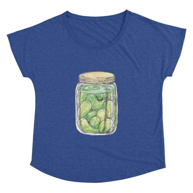 Pickle Jar Women's Dolman Scoop Neck by The Pickle Jar's Artist Shop