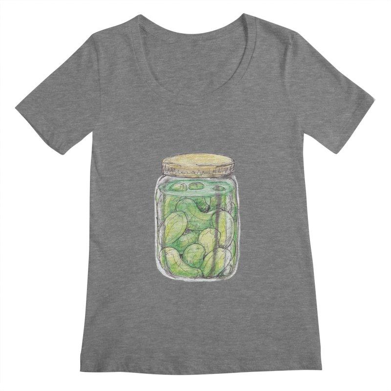 Pickle Jar Women's Scoopneck by The Pickle Jar's Artist Shop